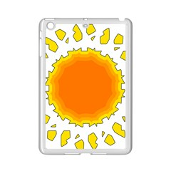 Sun Hot Orange Yrllow Light iPad Mini 2 Enamel Coated Cases