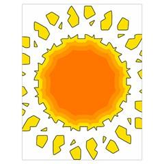 Sun Hot Orange Yrllow Light Drawstring Bag (large)