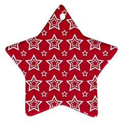 Star Red White Line Space Ornament (Star)