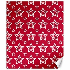 Star Red White Line Space Canvas 20  x 24