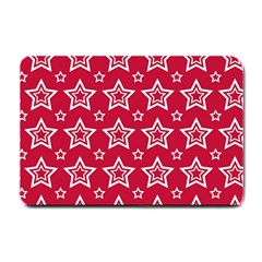 Star Red White Line Space Small Doormat