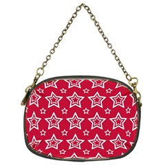 Star Red White Line Space Chain Purses (One Side)