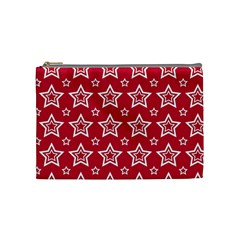 Star Red White Line Space Cosmetic Bag (Medium)