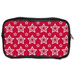 Star Red White Line Space Toiletries Bags 2-Side