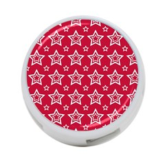 Star Red White Line Space 4 Port Usb Hub (one Side)