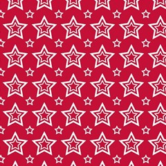 Star Red White Line Space Magic Photo Cubes
