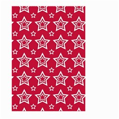 Star Red White Line Space Large Garden Flag (Two Sides)