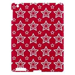 Star Red White Line Space Apple iPad 3/4 Hardshell Case