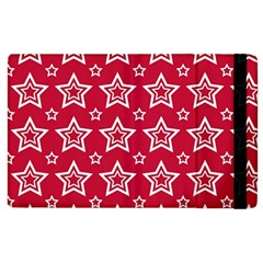 Star Red White Line Space Apple iPad 2 Flip Case