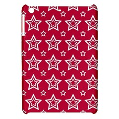 Star Red White Line Space Apple iPad Mini Hardshell Case