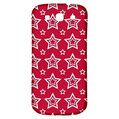 Star Red White Line Space Samsung Galaxy S3 S III Classic Hardshell Back Case