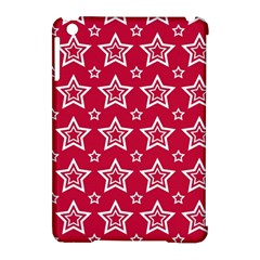 Star Red White Line Space Apple iPad Mini Hardshell Case (Compatible with Smart Cover)