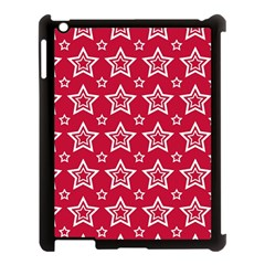 Star Red White Line Space Apple Ipad 3/4 Case (black)