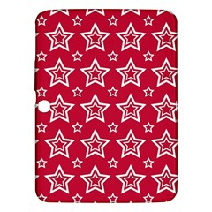 Star Red White Line Space Samsung Galaxy Tab 3 (10.1 ) P5200 Hardshell Case