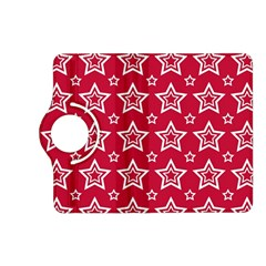 Star Red White Line Space Kindle Fire HD (2013) Flip 360 Case