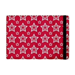 Star Red White Line Space iPad Mini 2 Flip Cases