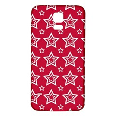 Star Red White Line Space Samsung Galaxy S5 Back Case (White)