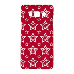 Star Red White Line Space Samsung Galaxy A5 Hardshell Case