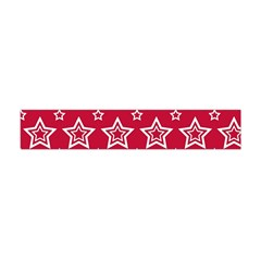 Star Red White Line Space Flano Scarf (Mini)
