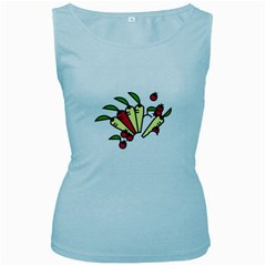 Tomatoes Carrots Women s Baby Blue Tank Top
