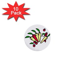 Tomatoes Carrots 1  Mini Buttons (10 pack)