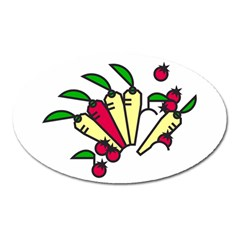 Tomatoes Carrots Oval Magnet