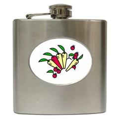 Tomatoes Carrots Hip Flask (6 oz)