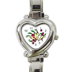 Tomatoes Carrots Heart Italian Charm Watch