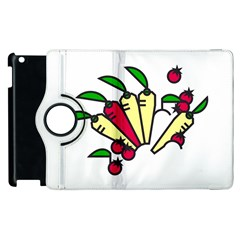 Tomatoes Carrots Apple iPad 3/4 Flip 360 Case