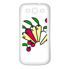 Tomatoes Carrots Samsung Galaxy S3 Back Case (White)