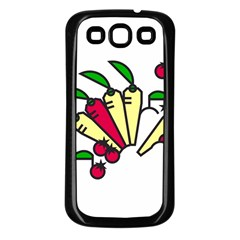 Tomatoes Carrots Samsung Galaxy S3 Back Case (Black)