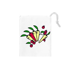 Tomatoes Carrots Drawstring Pouches (Small)