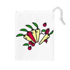 Tomatoes Carrots Drawstring Pouches (Large)
