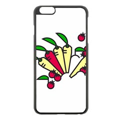 Tomatoes Carrots Apple iPhone 6 Plus/6S Plus Black Enamel Case
