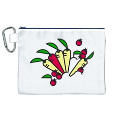 Tomatoes Carrots Canvas Cosmetic Bag (XL)