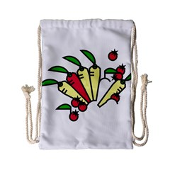 Tomatoes Carrots Drawstring Bag (Small)