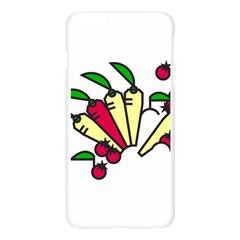 Tomatoes Carrots Apple Seamless iPhone 6 Plus/6S Plus Case (Transparent)