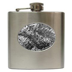 Fern Raindrops Spiderweb Cobweb Hip Flask (6 oz)