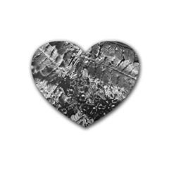 Fern Raindrops Spiderweb Cobweb Rubber Coaster (heart)