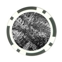 Fern Raindrops Spiderweb Cobweb Poker Chip Card Guard