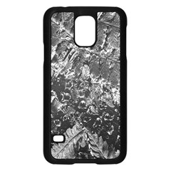 Fern Raindrops Spiderweb Cobweb Samsung Galaxy S5 Case (Black)