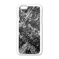 Fern Raindrops Spiderweb Cobweb Apple Iphone 6/6s White Enamel Case