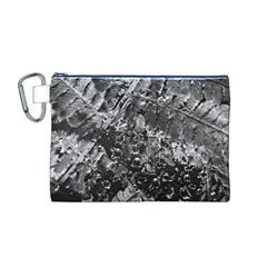 Fern Raindrops Spiderweb Cobweb Canvas Cosmetic Bag (M)
