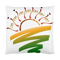 Sunset Spring Graphic Red Gold Orange Green Standard Cushion Case (Two Sides)