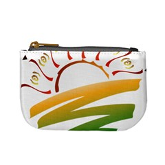 Sunset Spring Graphic Red Gold Orange Green Mini Coin Purses