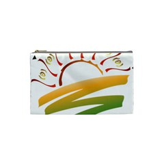 Sunset Spring Graphic Red Gold Orange Green Cosmetic Bag (Small)