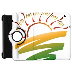 Sunset Spring Graphic Red Gold Orange Green Kindle Fire HD 7