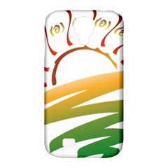 Sunset Spring Graphic Red Gold Orange Green Samsung Galaxy S4 Classic Hardshell Case (PC+Silicone)