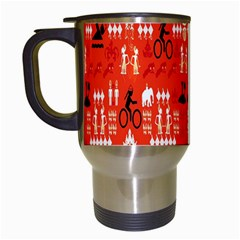 Traditional Wayang Travel Mugs (White)