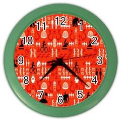 Traditional Wayang Color Wall Clocks